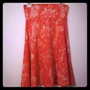 Tie dye Azure skirt Lularoe Small
